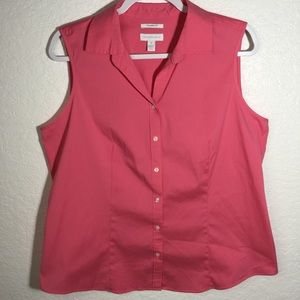 Charter Club Sleeveless Button Down Top Size: 16
